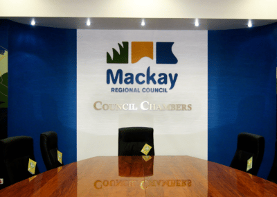 Engraving Mackay - Mackay Regional Council Chambers Routed Logo